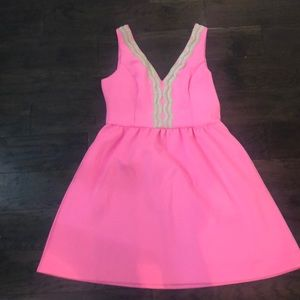 Lilly Pulitzer Pink fit and flare dress